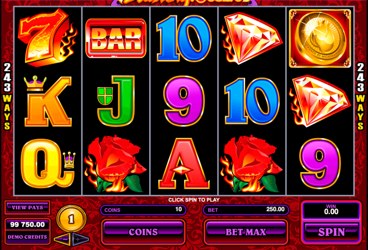 Win real cash by playing online burning desire slot games